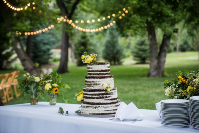 cake with yellow flowers