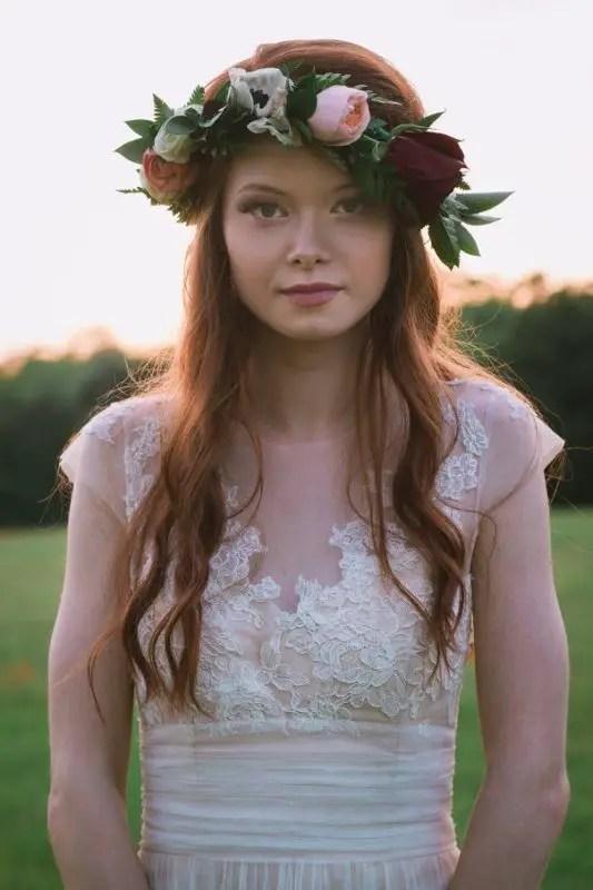 beautiful bride flower crown