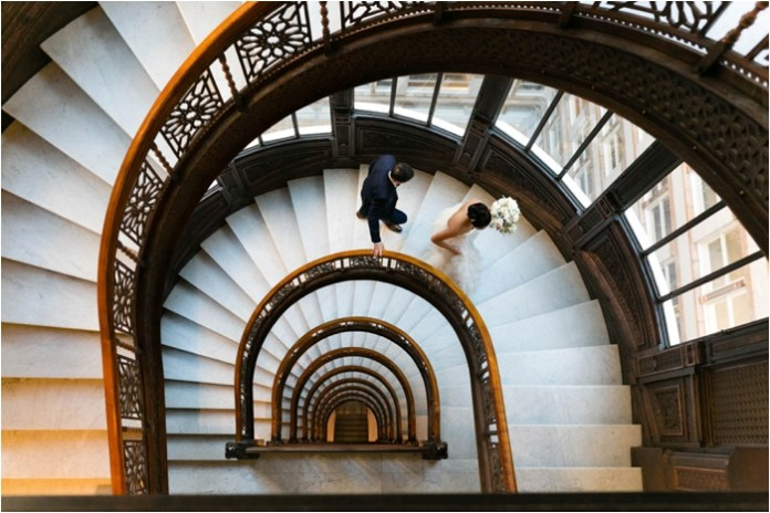 rookery winding staircase wedding