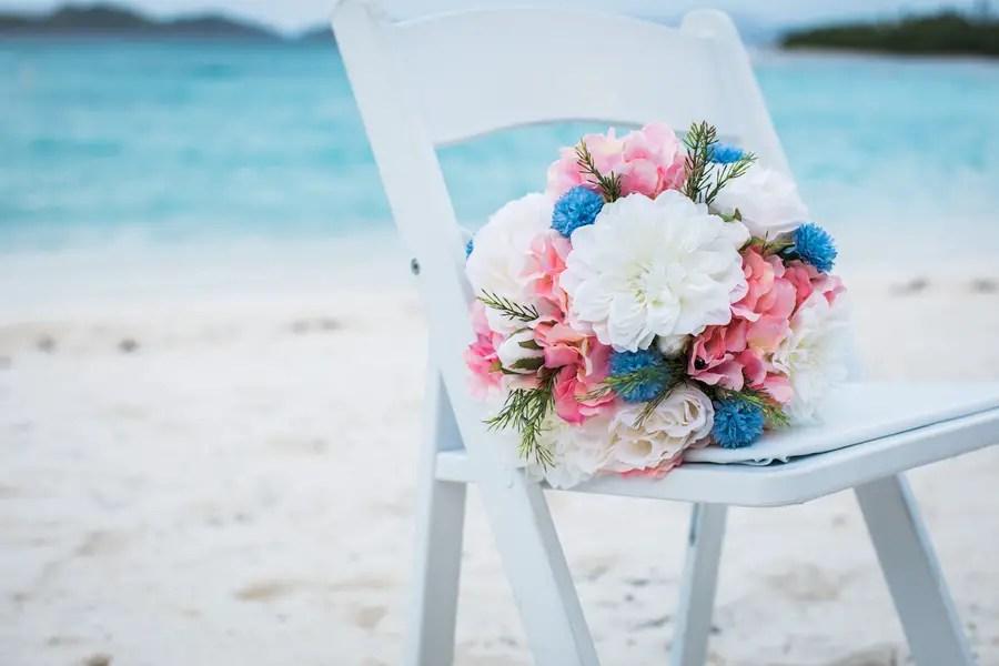 pink and blue flowers destination wedding jw