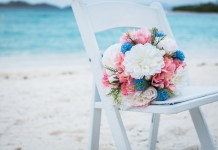 pink and blue flowers destination wedding jw