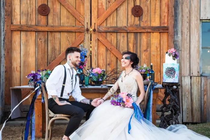Watercolor tattoo wedding
