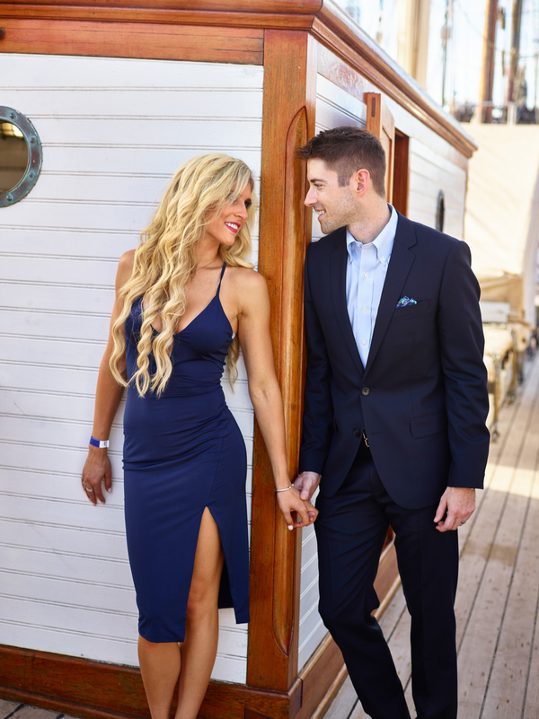Sunlight and Sailing Couple Session in Galveston Texas