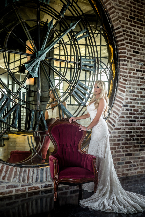 Glam Bridal Portrait at The Astorian in Texas