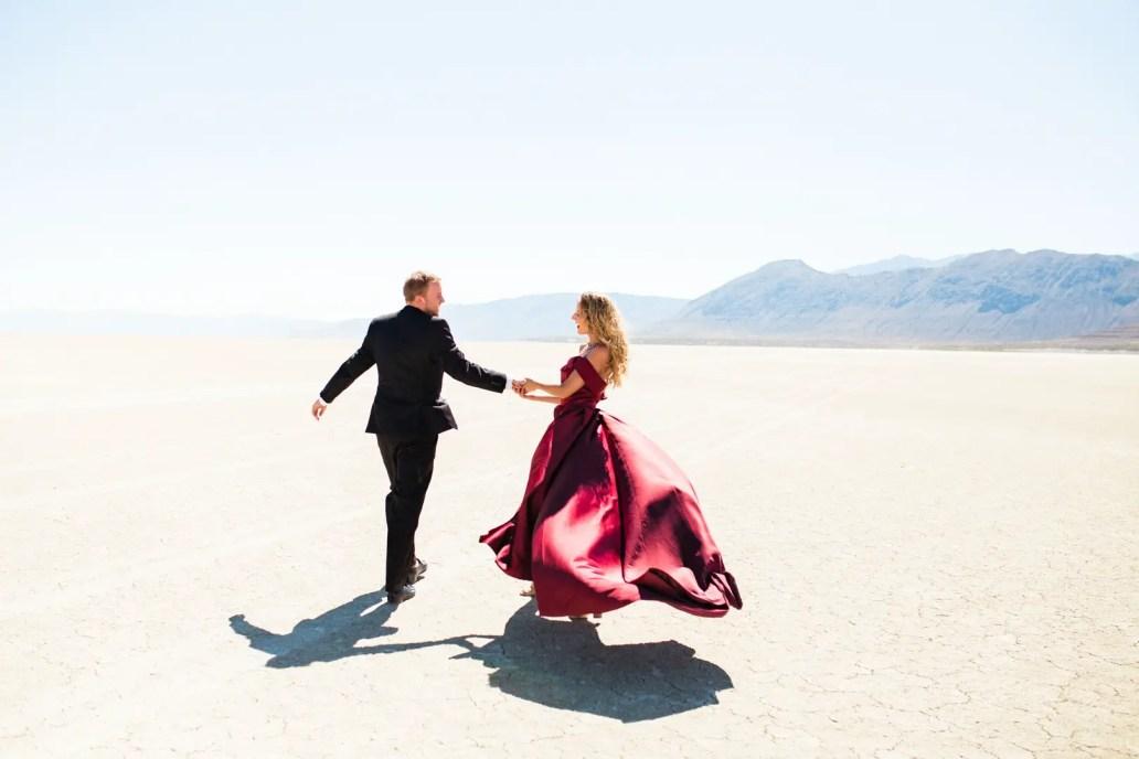 b3eef8489f Black Rock Desert Red Dress Engagement Session