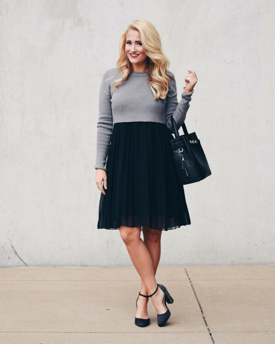 tulle sweater dress