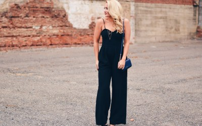 WIDE LEG JUMPSUIT + VOGUE TOTE REVIEW
