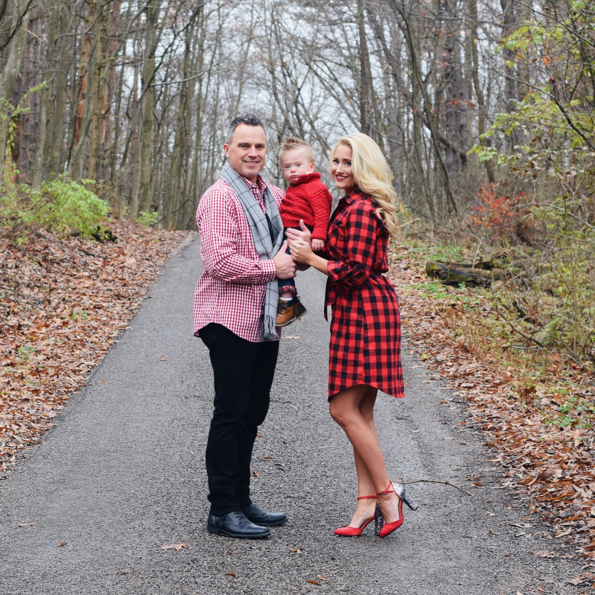 BUFFALO CHECK DRESS + XMAS PICTURES