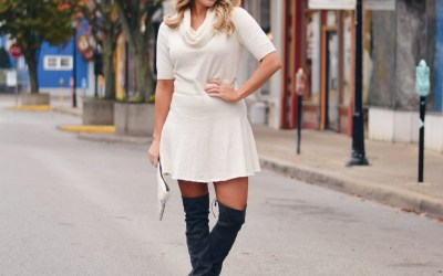WINTER WHITE SWEATER DRESS