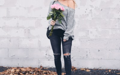 CHUNKY KNIT OFF THE SHOULDER SWEATER