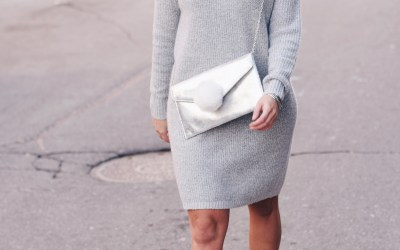 COZY COWL NECK DRESS