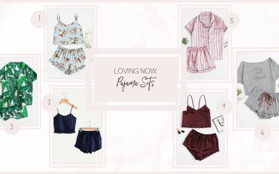 LOVING NOW: PAJAMA SETS