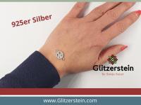 Schmuckverbinder Peace 925 Silber