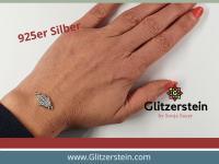 Schmuckverbinder Fatima Hand 925 Silber mit Zirkonia