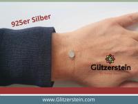 Schmuckverbinder Mini-Rund 925 Silber mit Zirkonia