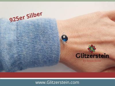 Schmuckverbinder Rubin-Zoisit 925er Silber