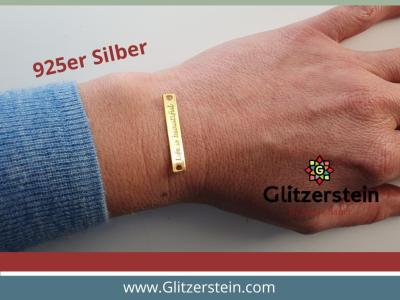 Schmuckverbinder Life is beautiful 925 Silber vergoldet