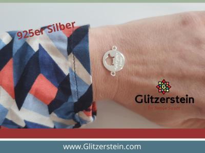 Schmuckverbinder Take your time Schildkröte 925 Silber