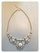 Cream stone statement necklace $20