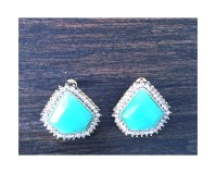 Elegant turquoise earrings $10