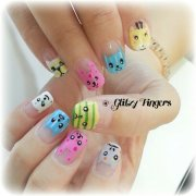 girl manicure cartoon