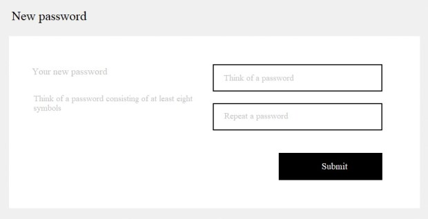 Shopify: password recovery and reset