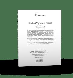 Horizons 5th Grade Math Student Worksheet Packet - AOP Homeschooling [ 1200 x 1200 Pixel ]