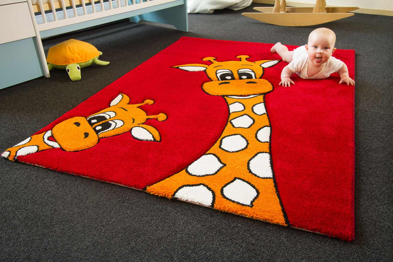 Langflor Teppich 100x160 Kinderteppich Little Carpet Giraffe Lia Global Carpet