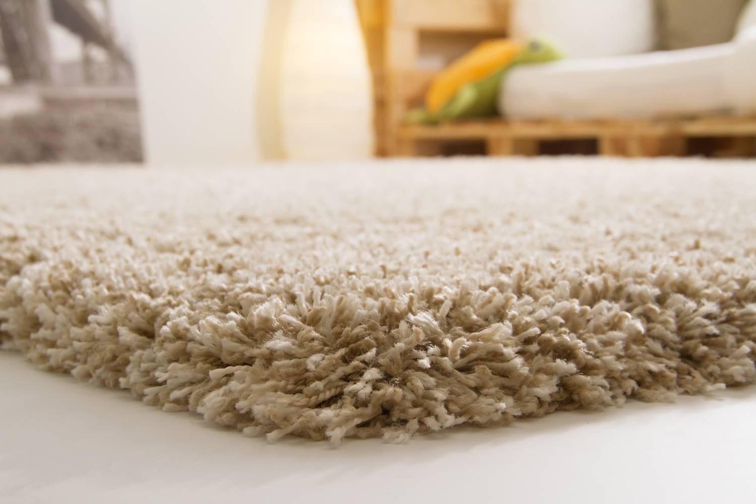 Hochflor Teppich Creme 140x200 Hochflor Teppich Funny Soft Touch Xxl Global Carpet