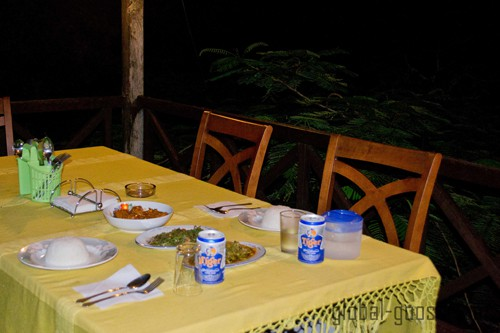 A wonderful home cooked meal at TreeTops Jungle Lodge