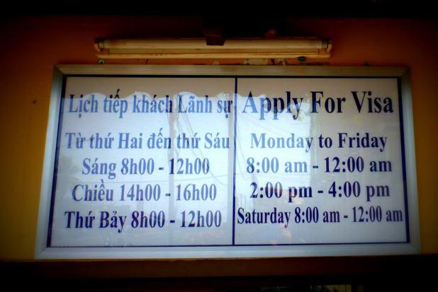 vietnam visa in sihanoukville opening hours