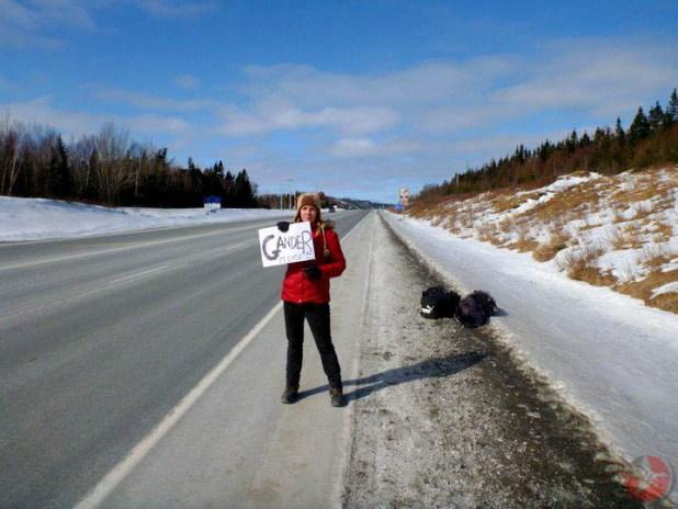 Hitchhiking Newfoundland Canada