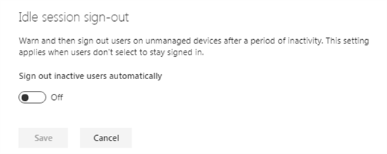 Idle session sign-out in SharePoint admin center - Office 365 - Microsoft 365 admin center