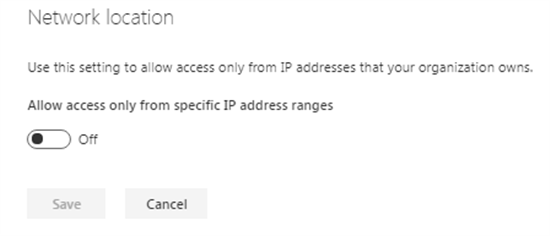 Network Location in SharePoint admin center - Office 365 - Microsoft 365 admin center
