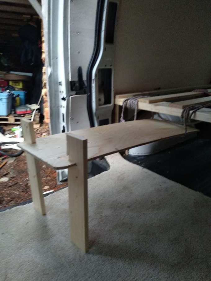 DIY coffee table van life
