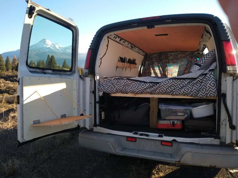 van conversion how to guide mount shasta view