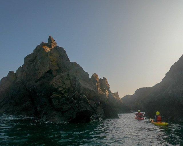 sea kayaking Pembrokeshire coast national park