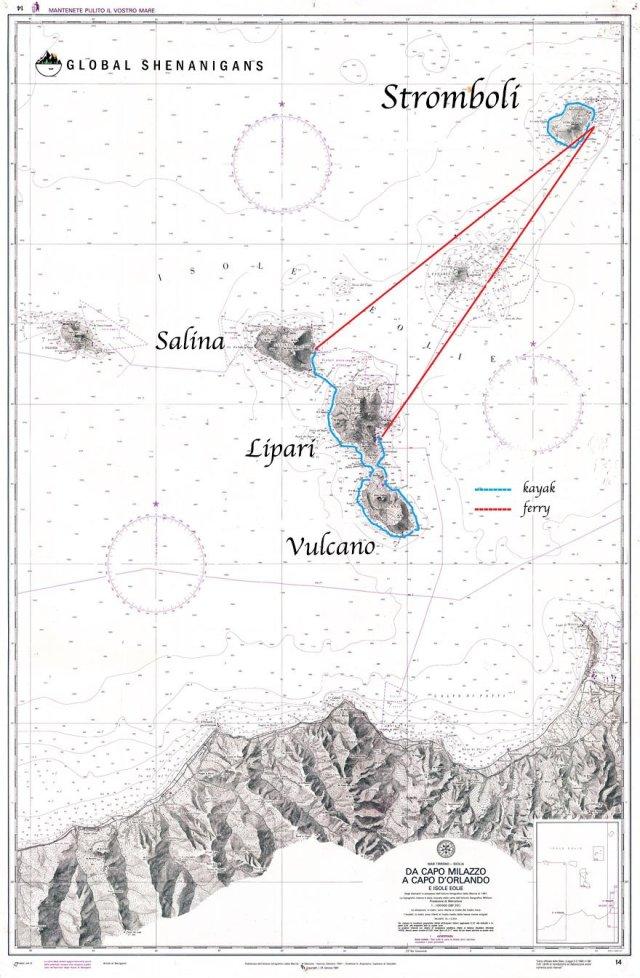 sea kayaking aeolian islands