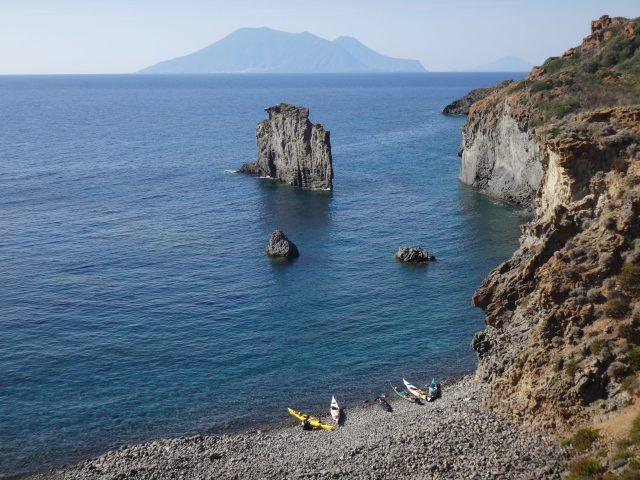 sea kayaking vulcano Stromboli