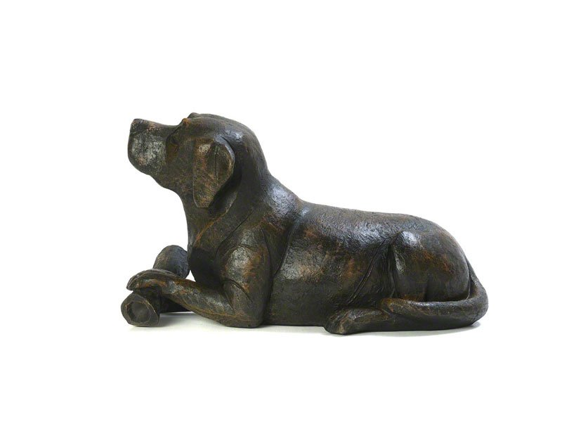 Beautiful figurine Dog with Bone urns for pet dog ashes. Can be personalised.