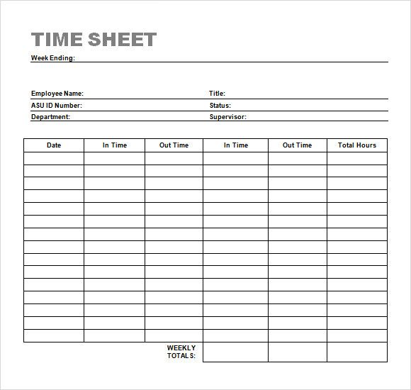 Ideal for freelancers and contractors that need to invoice clients for hours worked (which is even easier if you use invoicing software! Free Simple Timesheet Template Download Bonsai
