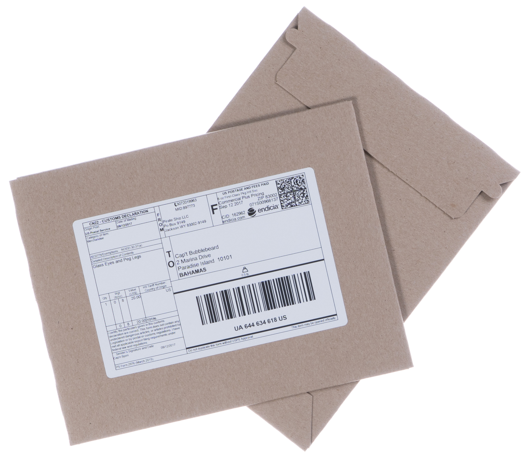 Postage Padded Envelope