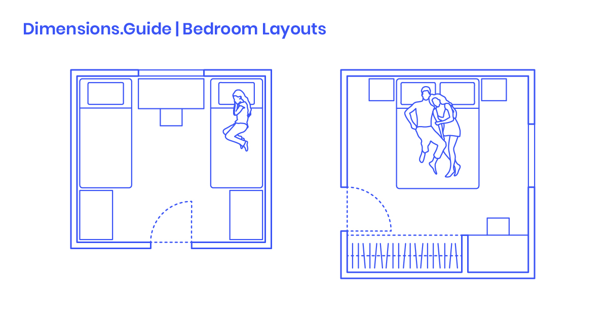 Bedroom Layouts Dimensions Drawings Dimensions Com