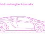 Lamborghini Aventador Dimensions Drawings Dimensions Com