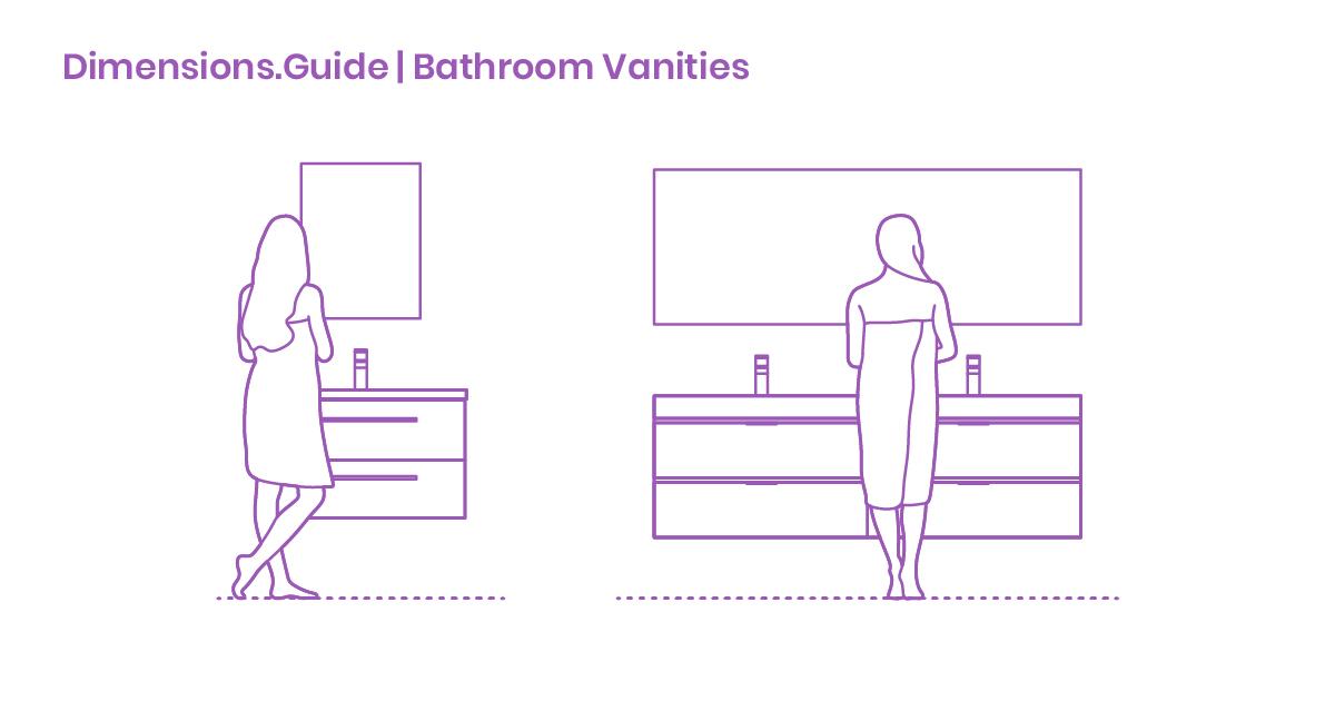 Bathroom Vanities Dimensions Drawings Dimensions Com