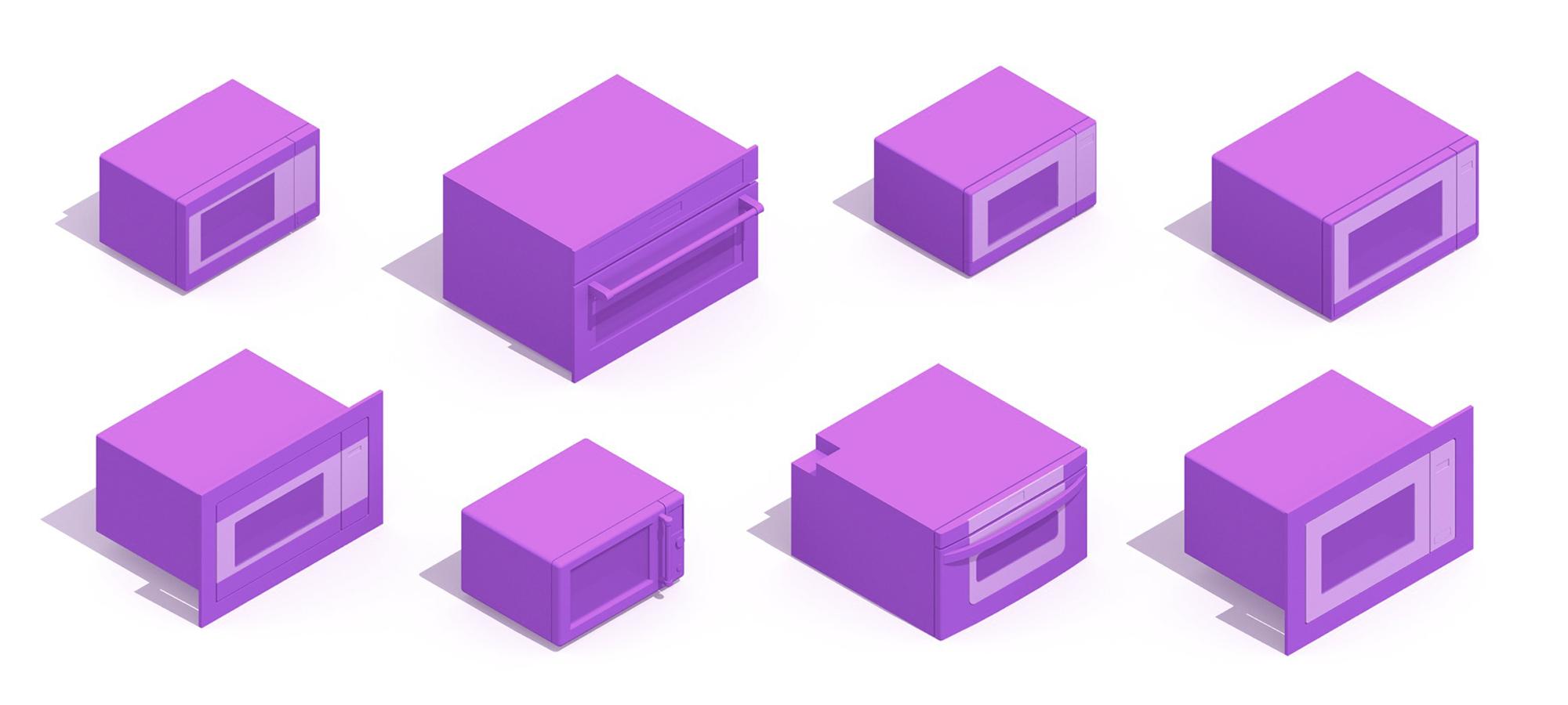 microwaves dimensions drawings