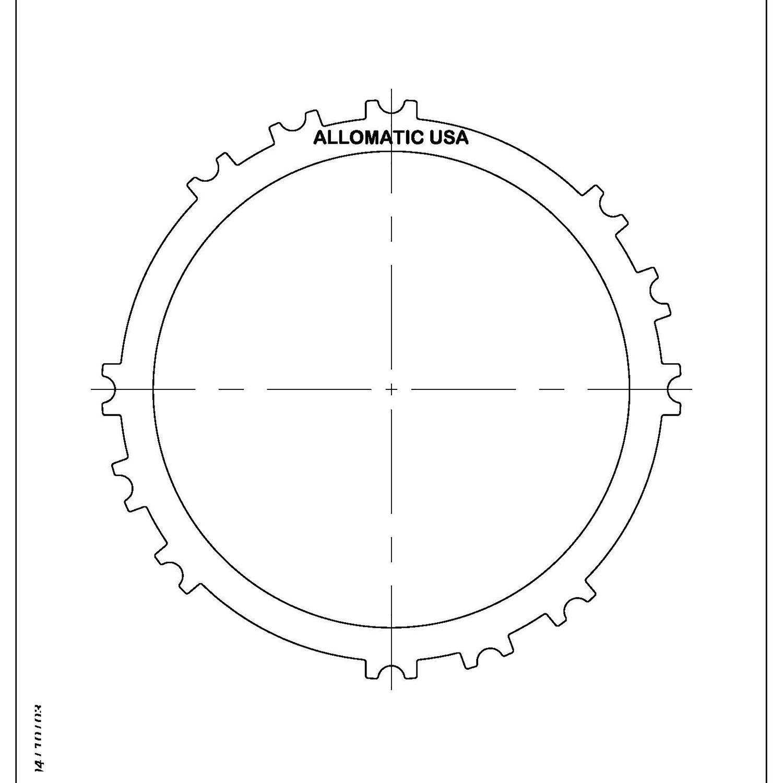 A245E, A246E, A247E 1st Reverse 3rd Brake Steel Clutch Plate