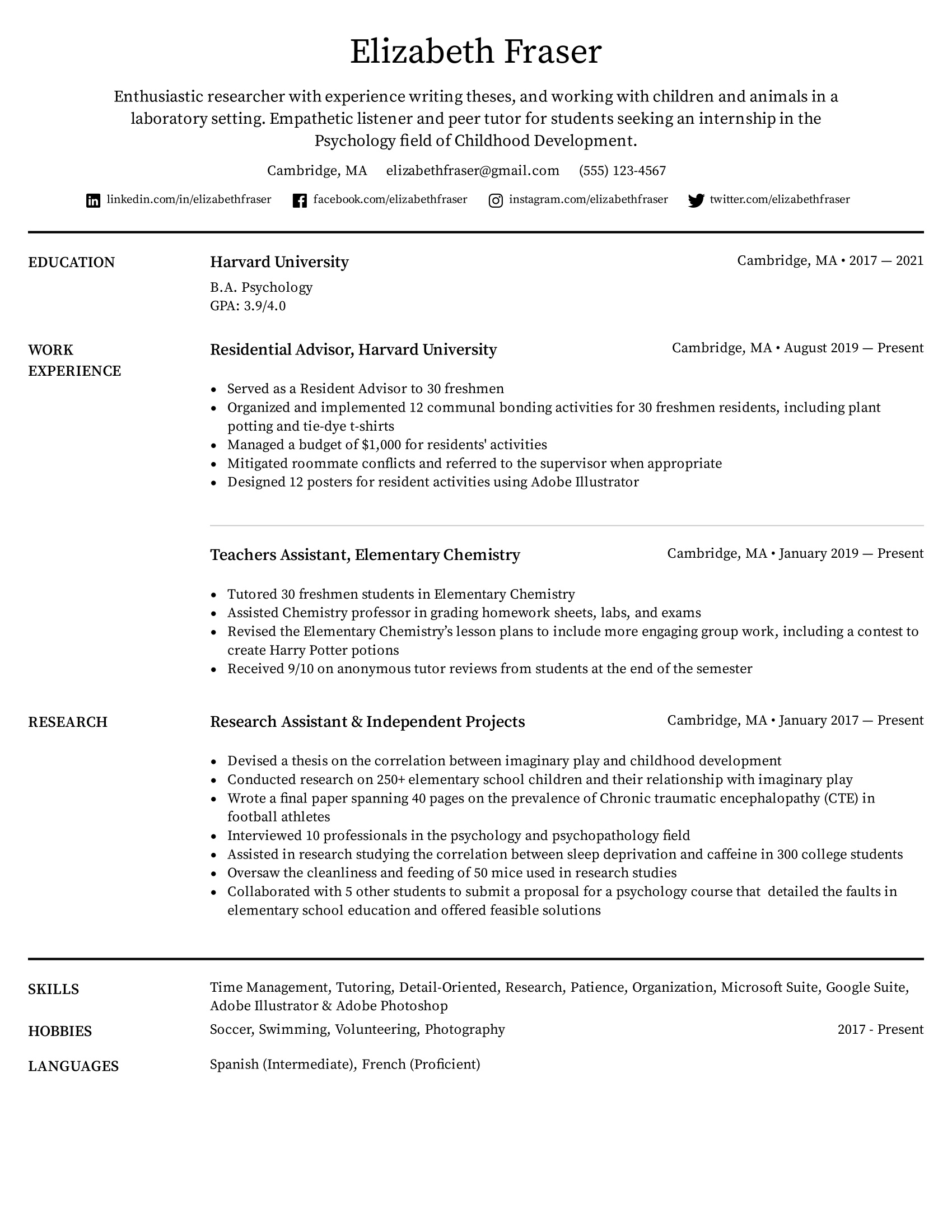 Sample resume for summer job college student. How To List Education On A Resume In 2021 With Examples Tips Easy Resume