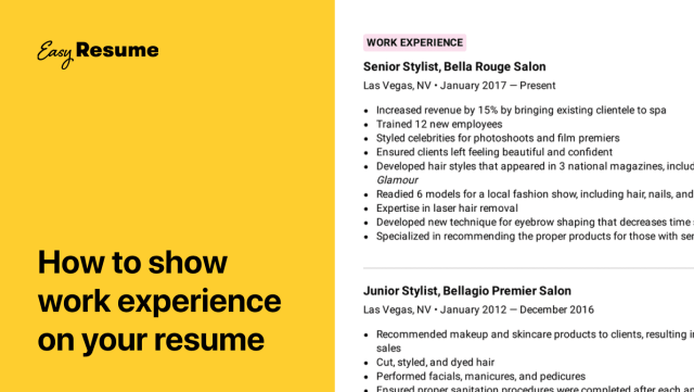How to Describe Work Experience on a Resume in 30 (Examples
