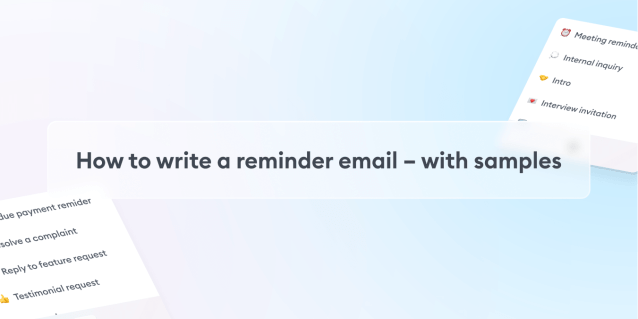 How to Write a Reminder Email – with Samples